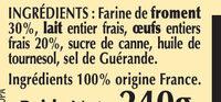 6 Petites Crêpes Bretonnes aux Oeufs de Plein Air en sachet - Ingredients