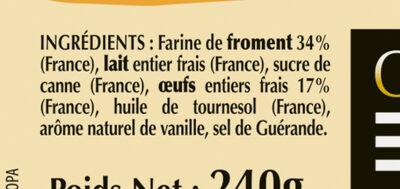 6 Crêpes de Froment aux Oeufs de Plein Air en barquette - Ingredients
