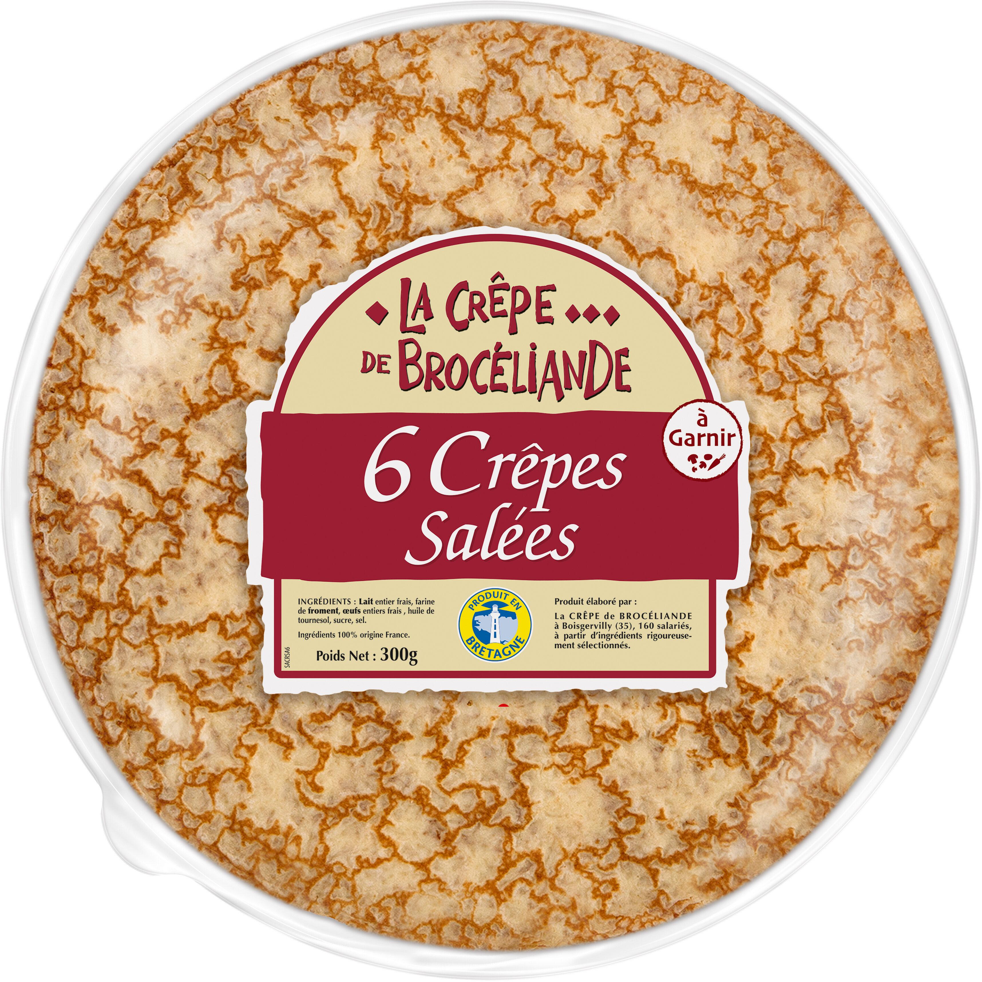 6 Crêpes de Froment Salées en Sachet - Product