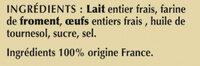 6 Crêpes de Froment Salées en Sachet - Ingredients