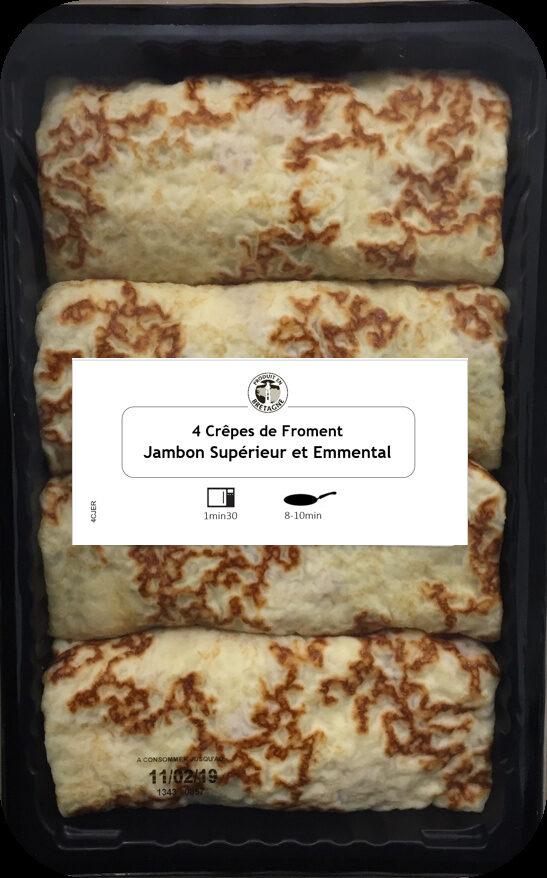 4 Crêpes de Froment Roulées Jambon Supérieur et Emmental - Produit - fr