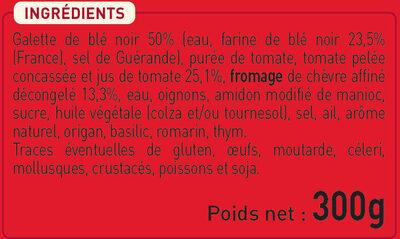 2 Galettes Chèvre Affiné et Tomates à la Provençale - Ingrediënten - fr