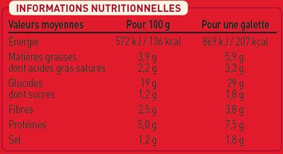 2 Galettes Chèvre Affiné et Tomates à la Provençale - Voedingswaarden - fr