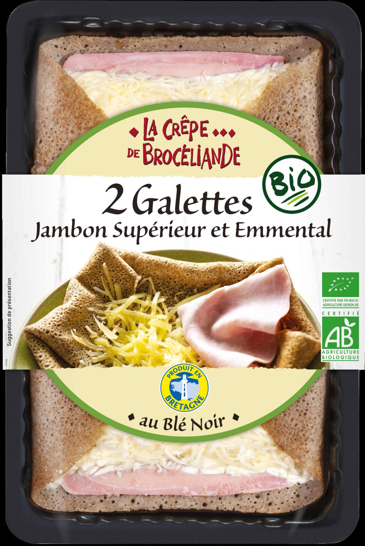 2 Galettes Jambon Supérieur et Emmental Biologiques - Product - fr
