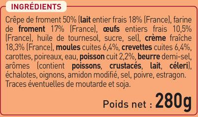 2 crêpes Fruits de Mer et petits Légumes - Ingredients