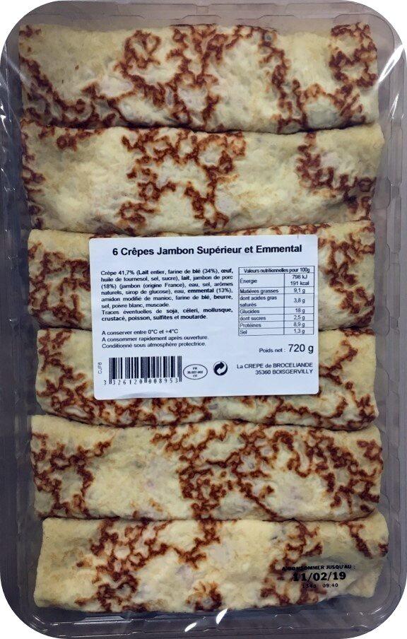 6 Crêpes Roulées Jambon Supérieur et Emmental - Product