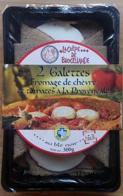 Galettes fromage de chèvre et tomates à la provençale - Product