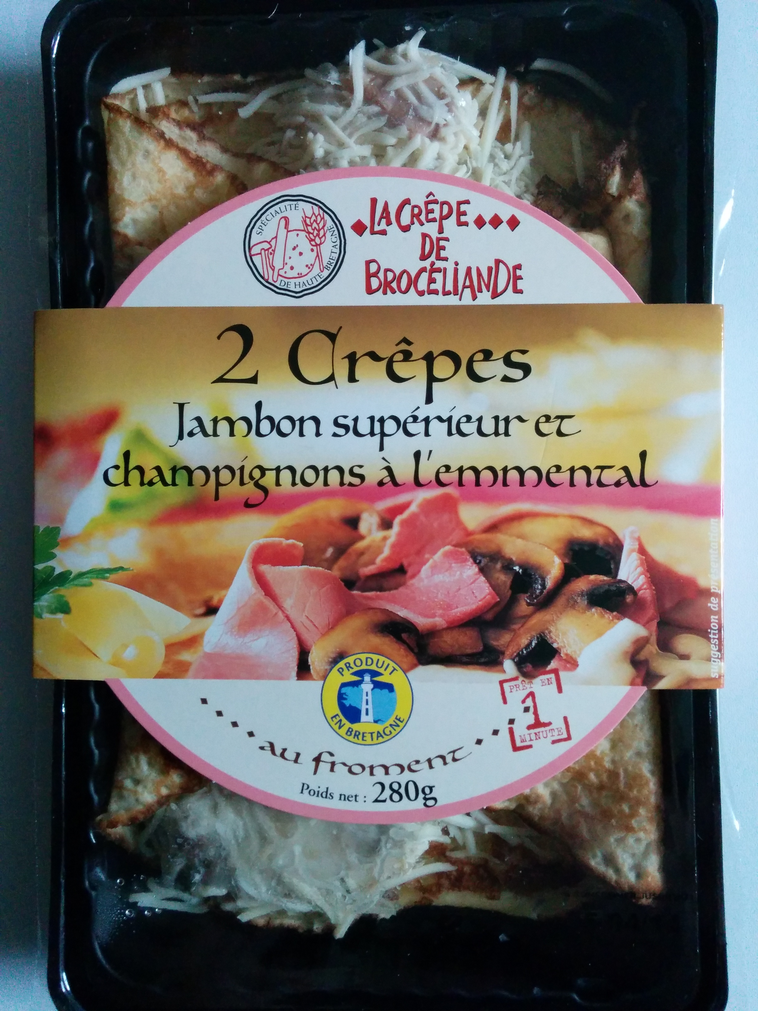 Crêpes Jambon supérieur et Champignons à l'Emmental - Product - fr