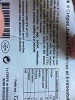 Crepes jambon superior et emmental - Produit - fr