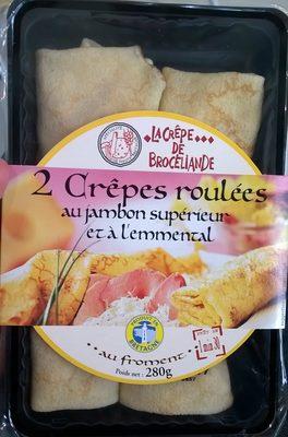 2 Crêpes Roulées au Jambon Supérieur et à l'Emmental - Produit - fr