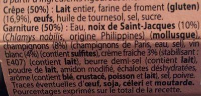 La crepe de broceliande - Ingrédients - fr