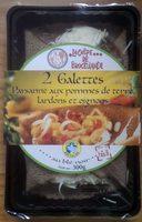 2 galettes paysanne aux pommes de terre lardons et oignons - Produit - fr