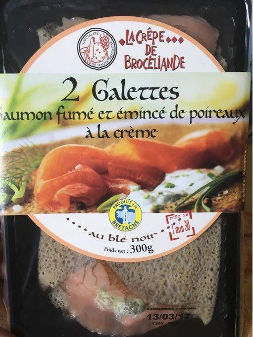 Galette  saumon fumé Poireaux - Produit - fr