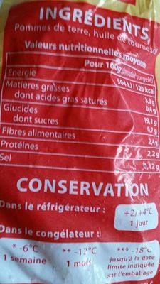 Pommes rissolées - Informations nutritionnelles - fr