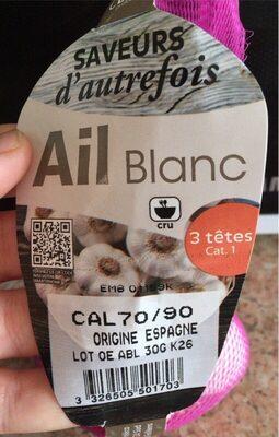 Ail blanc - Valori nutrizionali - fr