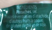 Pistaches Grillées à Sec Menguy's - Ingrediënten - fr