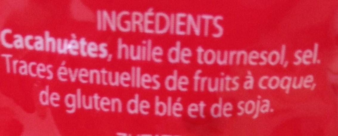 Cacahuètes grillées et salées - Ingrediënten