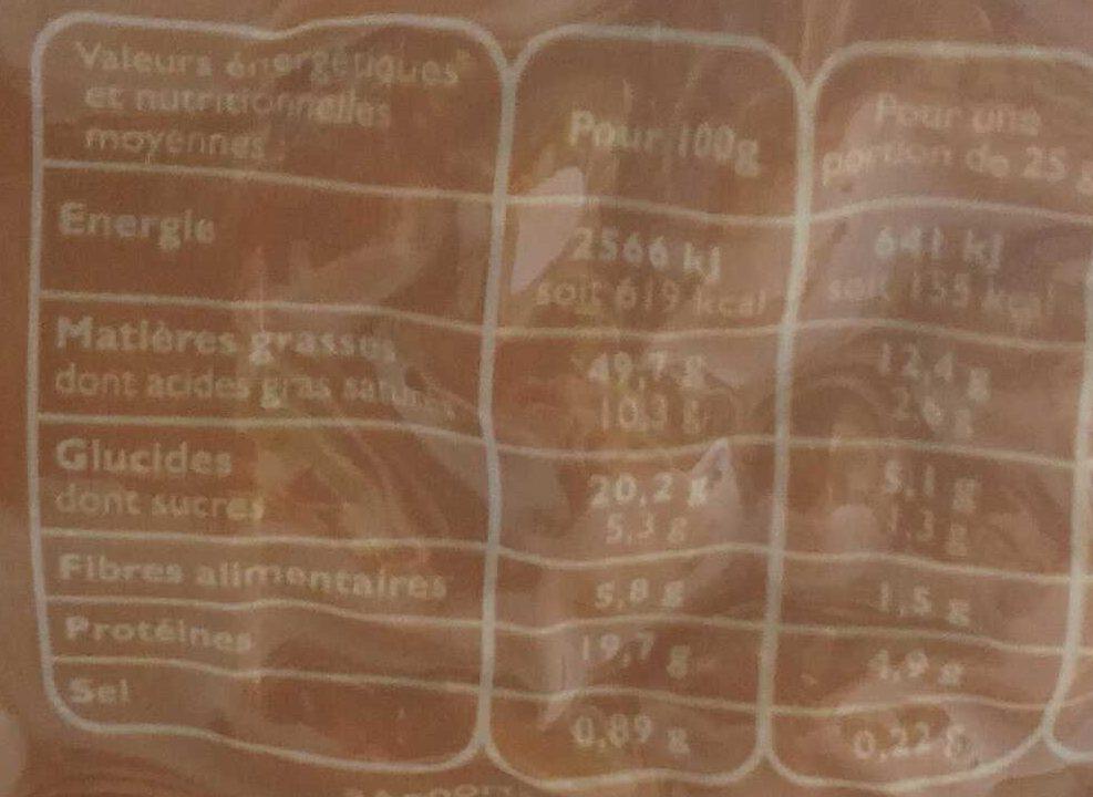 Noix de Cajou grillées salées - Voedigswaarden