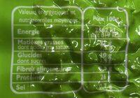 Cacahuètes Bio - Informations nutritionnelles - fr