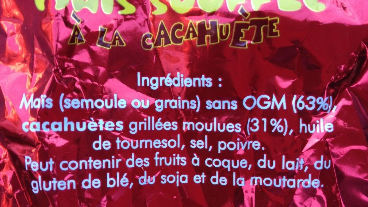 Soufflé de maïs - Ingredients