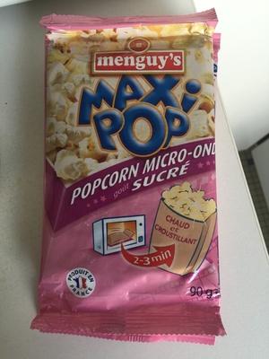 Popcorn micro ondes, goût sucré - Product
