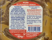 Peanut butter creamy - Ingredienti - en