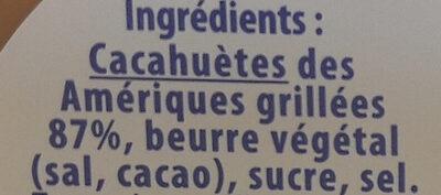 Beurre de cacahuètes crunchy sans huile de palme - Ingredienti - fr