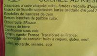 Choucroute garnie cuisinée au riesling - Ingrédients - fr
