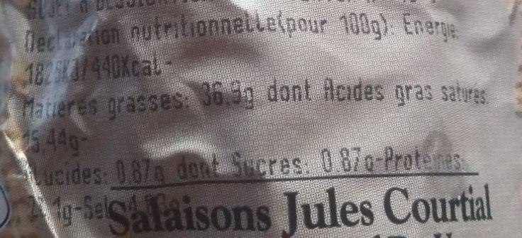 Saucisson sec tradition façon artisanale - Voedingswaarden - fr