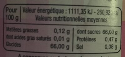 Gelée extra maracudja - Nutrition facts