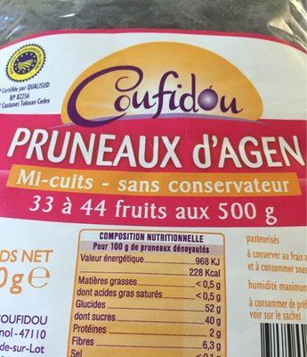 Pruneaux d'agen mi-cuits - Ingrediënten