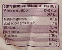 Pruneau d'Agen Bio - Nutrition facts - fr