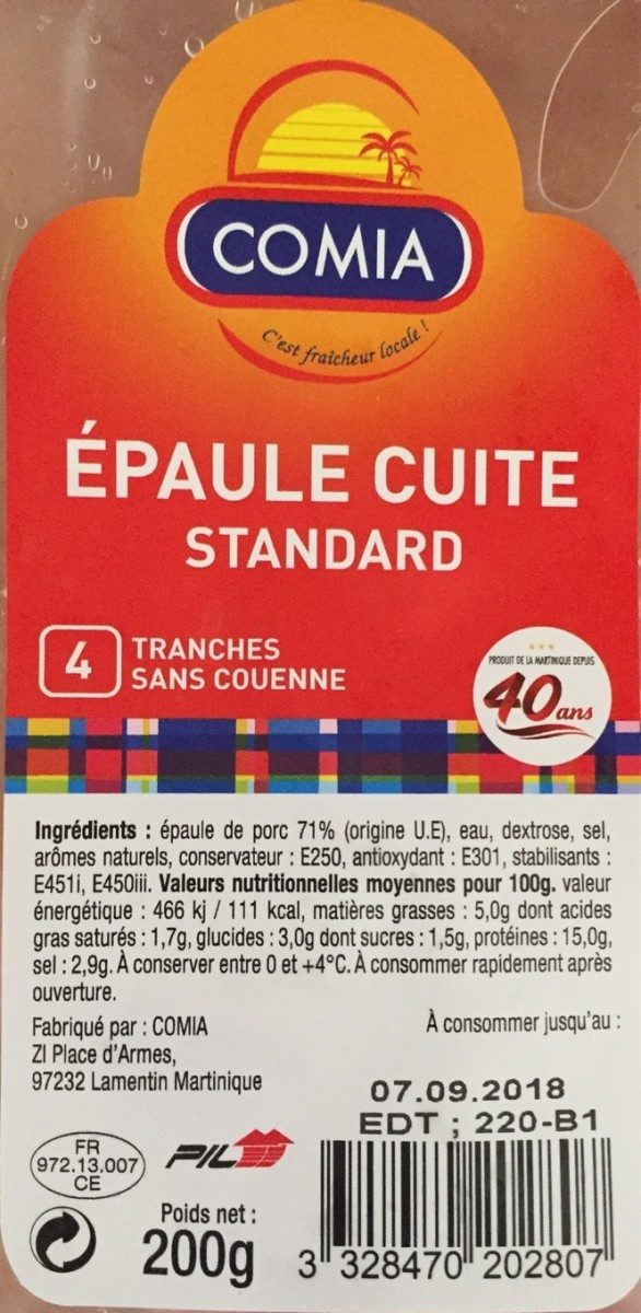 Epaule Cuite - Produit - fr