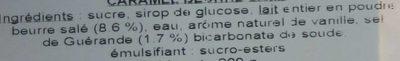 Caramel au beurre salé - Ingrédients