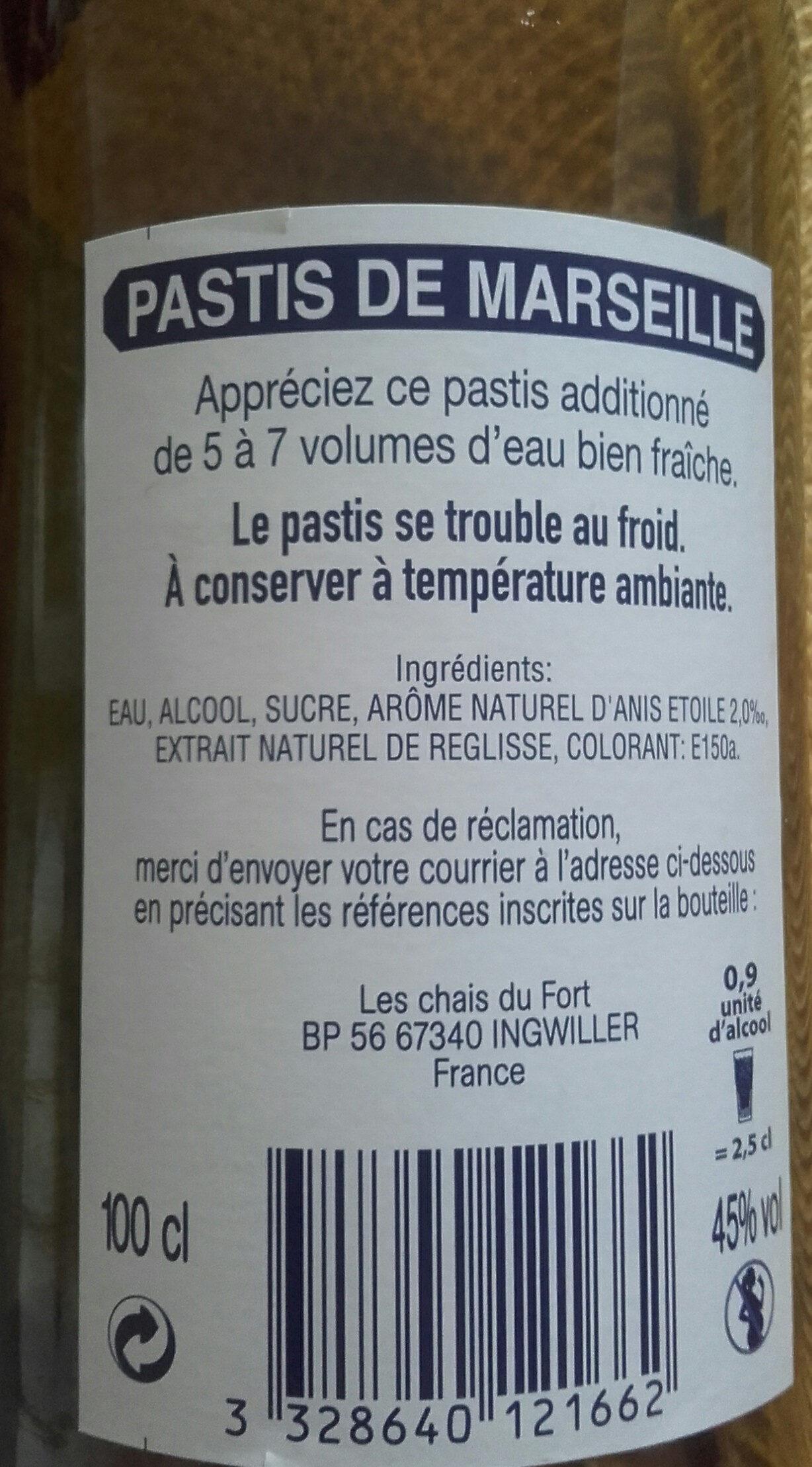 Pastis 100 cl - Prodotto - fr