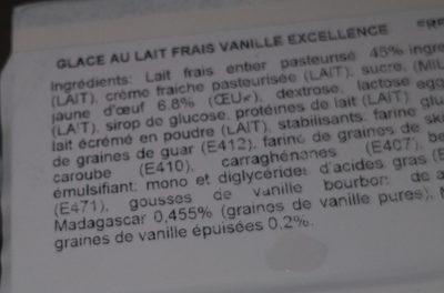 Louise glace d'artisan - Ingrédients - fr