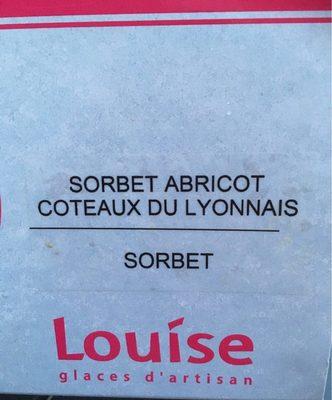 Sorbet abricot coteau du lyonnais - Produto - fr