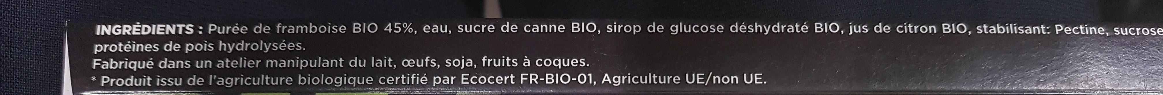 Framboise bio - Ingrediënten - fr