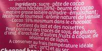 Noir Noisettes - Ingrediënten - fr