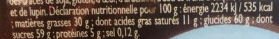 Pâte à Tartiner Noisety - Voedingswaarden