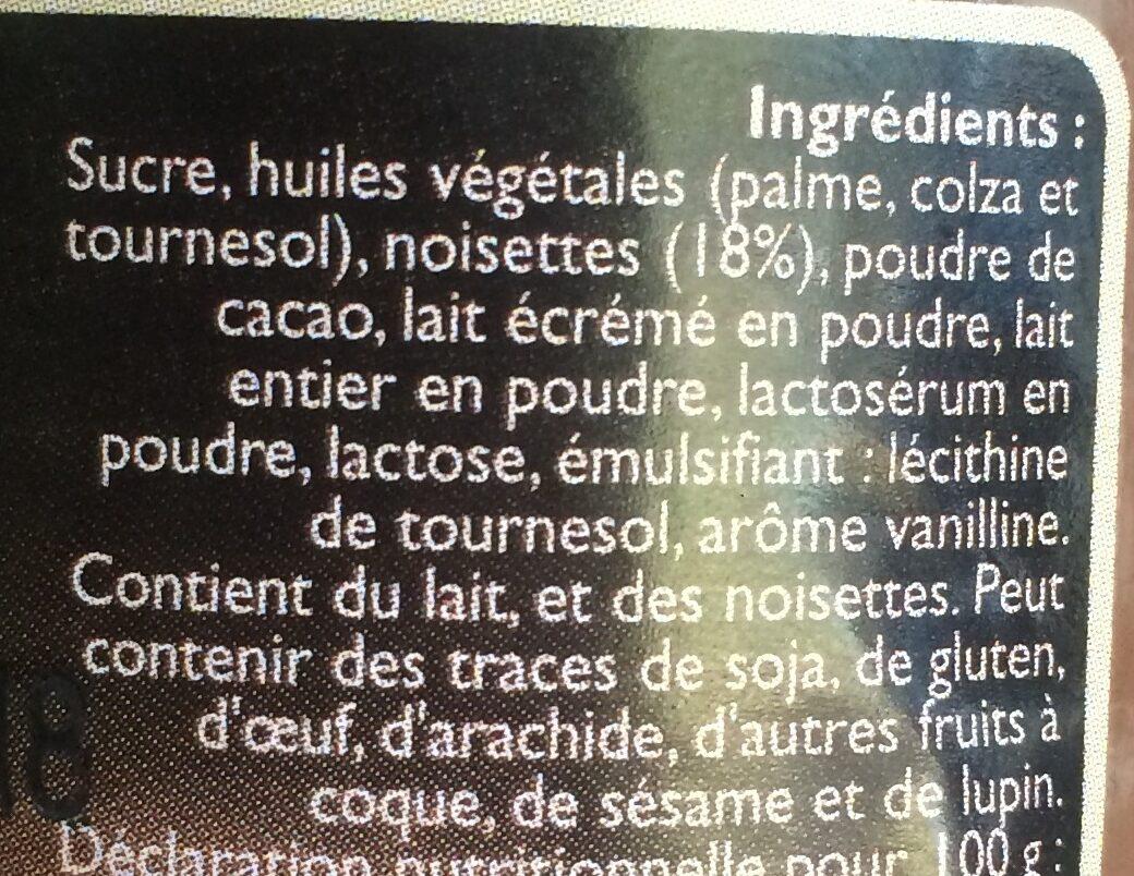 Pâte a tartiner - Ingrediënten