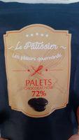 les plaisirs gourmands palets 72% chocolat noir - Product - fr