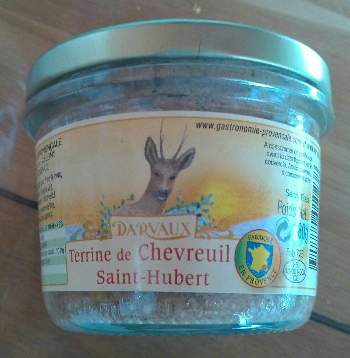 Terrine de chevreuil saint Hubert - Product - fr