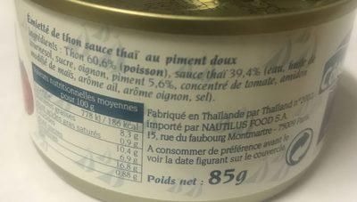Emietté de thon - Ingredients - fr