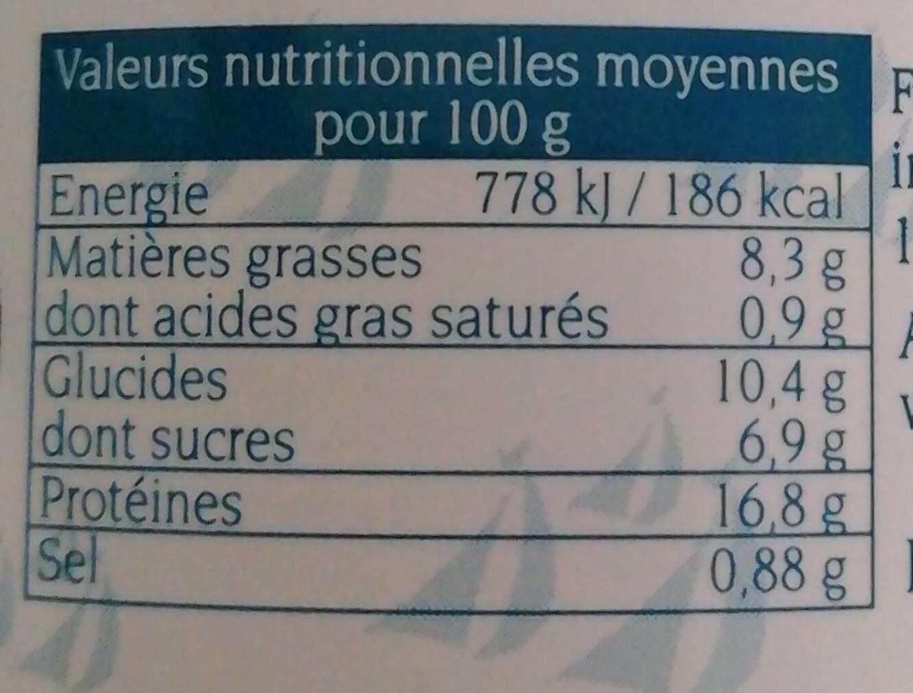 Emietté de thon - Nutrition facts - fr