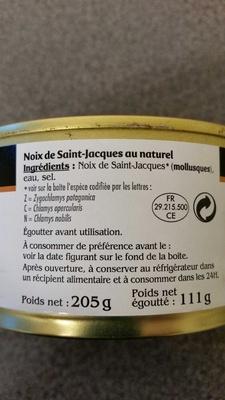 Noix de St Jacques au naturel - Produit - fr