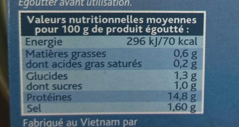 Crabe 100% Morceaux - Informations nutritionnelles