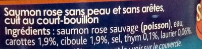 Saumon Cuit au Court-Bouillon - Ingredients