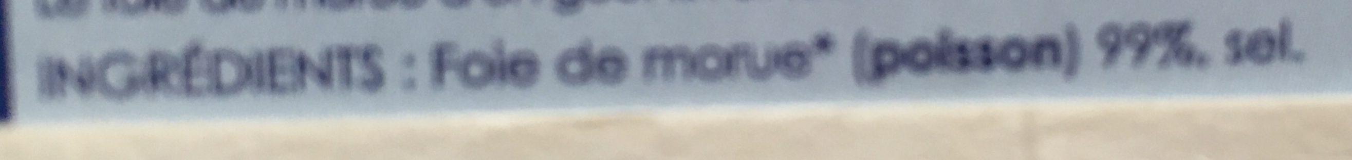 Foie de morue -25% de sel - Ingredients - fr