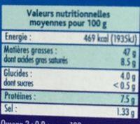 Foie de morue -25% de sel - Nutrition facts - fr